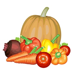 vegetable composition vector image vector image