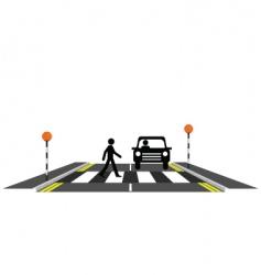 zebra crossing pedestrian vector image