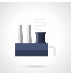 Steel mill flat color icon vector
