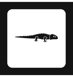 Long lizard icon simple style vector