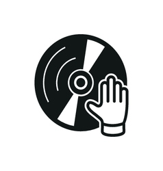Simple black dj icon on white background vector