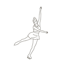 girl in purple dress dancing on skates on ice vector image