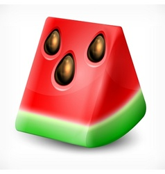 Watermelon on white vector