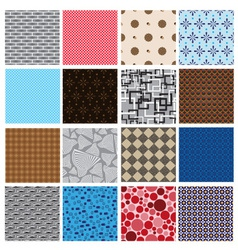 16 simple retro color seamless patterns eps10 vector image vector image
