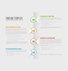 Simple paper timeline vector
