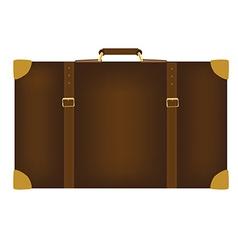 Brown travel bag vector image