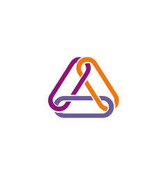 Chain triangle group technology logo vector