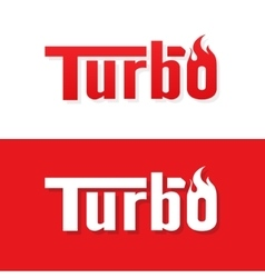 Turbo text logo design vector