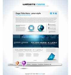 Modern website template vector
