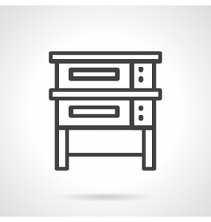 Baking equipment black line design icon vector