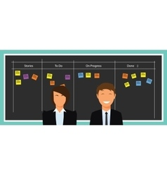 Scrum agile board vector