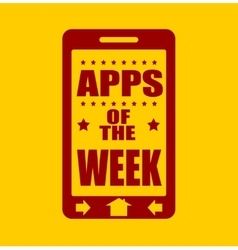 Apps of the week text on phone screen vector