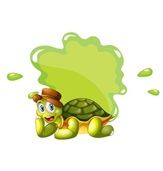 A turtle at the bottom of an empty template vector