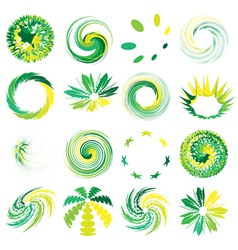 Abstract elements set vector