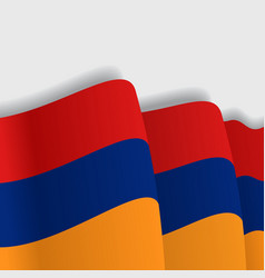 Armenian waving flag vector