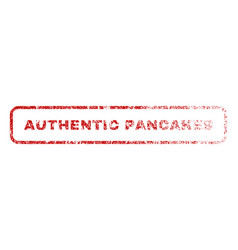 authentic pancakes rubber stamp vector image vector image