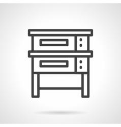 Baking equipment black line design icon vector
