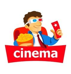 Cinema man logo vector