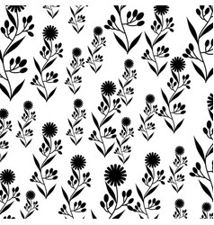 Cute flower garden decorative pattern vector