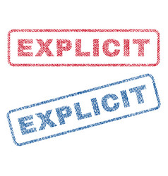 Explicit textile stamps vector