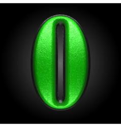 Green plastic figure o vector