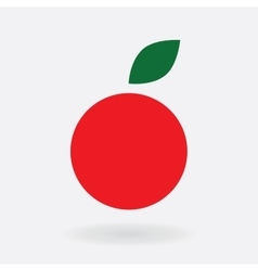 Icon simple apple red symbol stylization vector