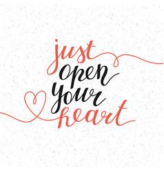 Just open your heart vector