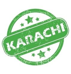 Karachi green stamp vector