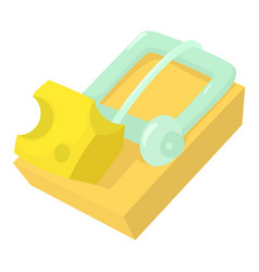 Mousetrap icon cartoon style vector
