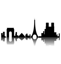 paris cityscape silhouette vector image