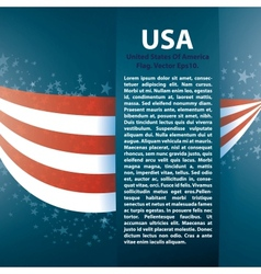 Patriotic wave background with stripes stars vector image