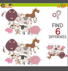 preachool finding differences game vector image