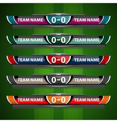 Scoreboard design object football vector