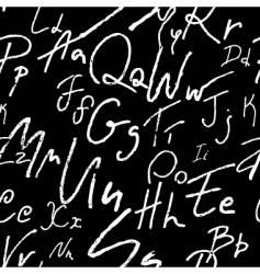Seamless alphabet vector