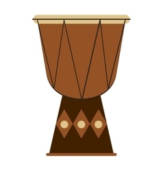 single djembe icon vector image