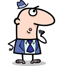 surprised businessman cartoon vector image
