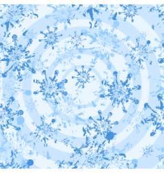 white grunge snowflakes seamless vector image