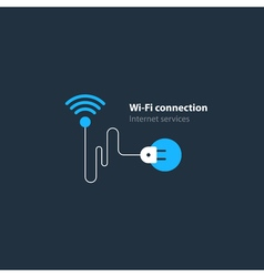 Wi-fi connection concept wireless internet access vector