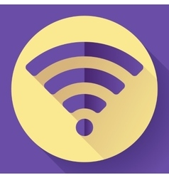 WIFI free internet connection Icon Flat design vector image vector image