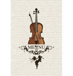 Violin and cutlery vector