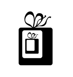 Gift inside gift icon wrapped present wit vector