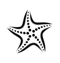 Black stylized starfish vector