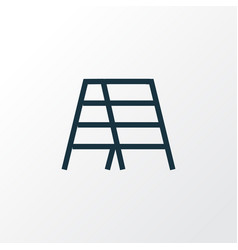 Stair outline symbol premium quality isolated vector