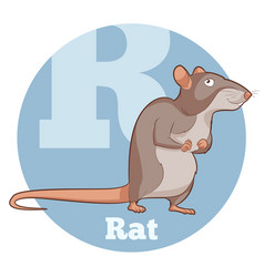 Abc cartoon rat vector