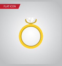 Isolated ring flat icon engagement element vector