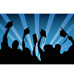 Graduation students background vector