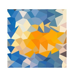 Azure blue abstract low polygon background vector