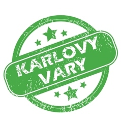 Karlovy vary green stamp vector
