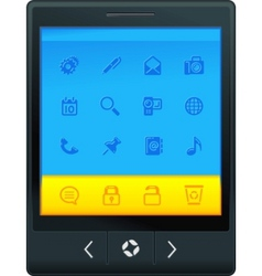 Interface tablet vector