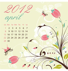 Calendar for 2012 april vector
